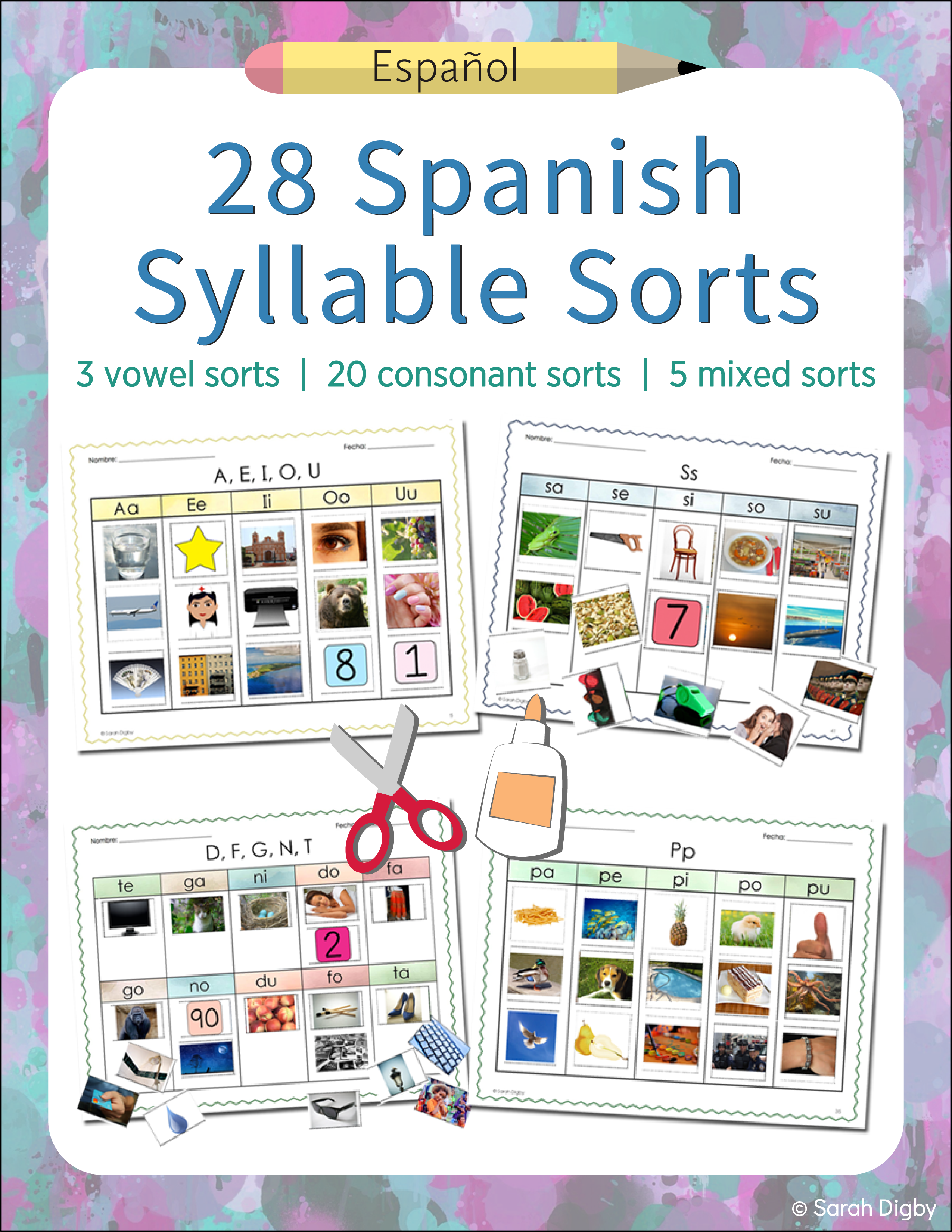 28 Spanish Syllable Sorts Phonemic Awareness And