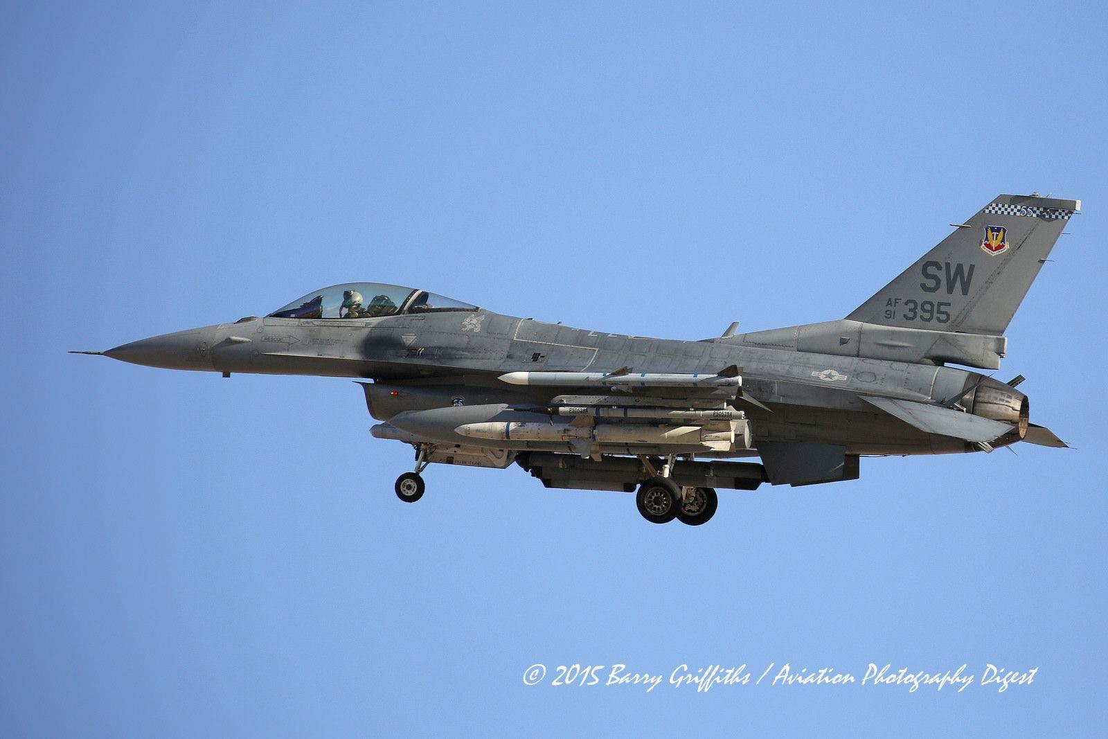"""General Dynamics F-16C Viper USAF 91-0395 55th FS """"Fightin' Fifty-Fifth"""" 20th FW Shaw AFB SC"""