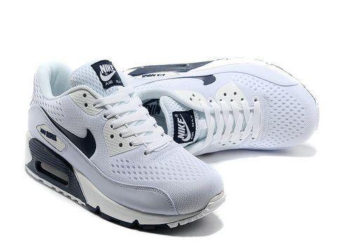 Nike Air Max 90 Premium Blanc Marine Em