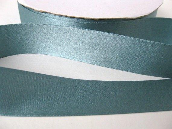 Vintage Ribbon Dusky Teal Satin 1 Inch By Bumbershootsupplies 4 25 Vintage Ribbon Teal Vintage