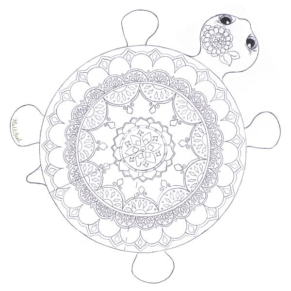 colouring in pages hattifant turtle coloring