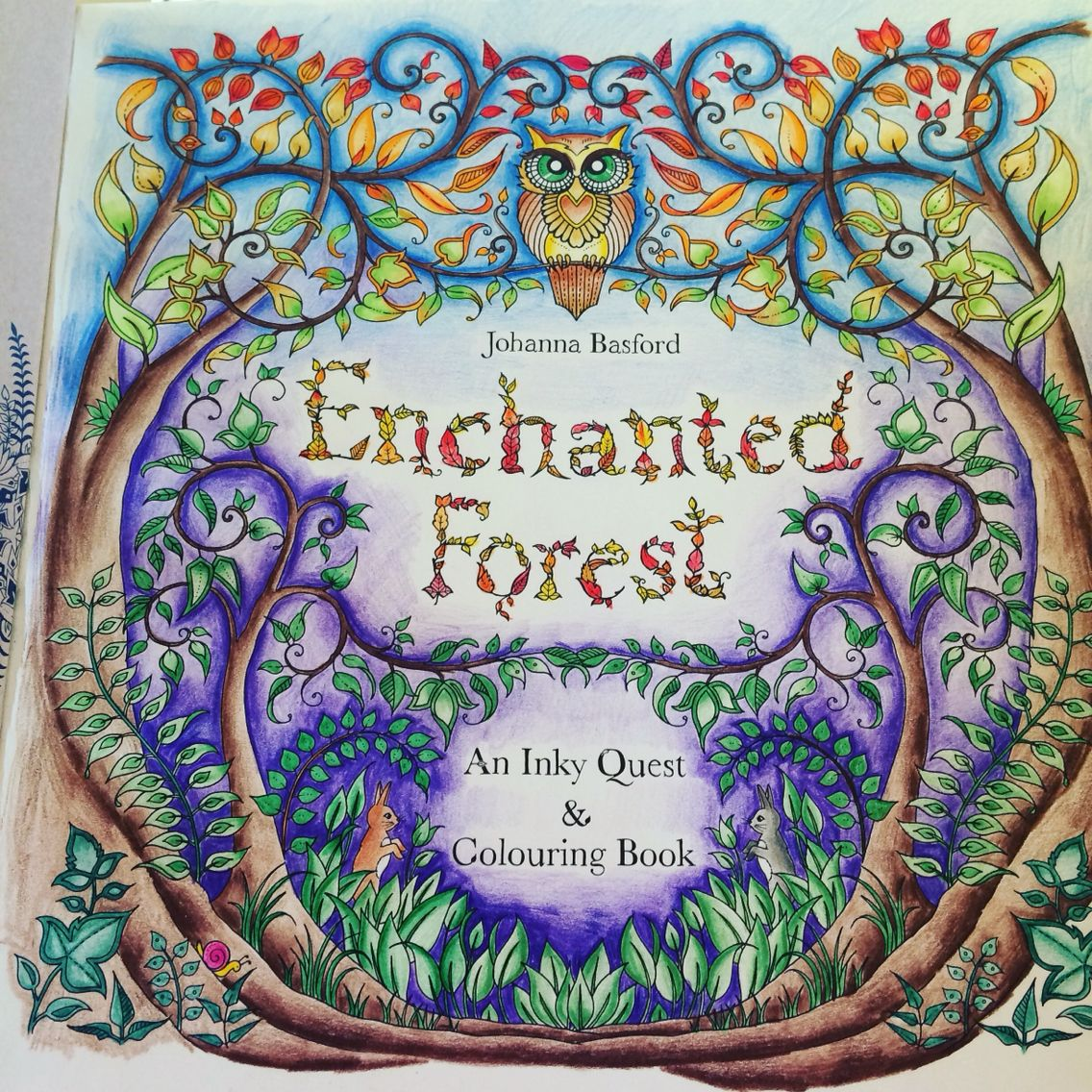 First Page Completed Enchanted Forest Colouring In BooksArt