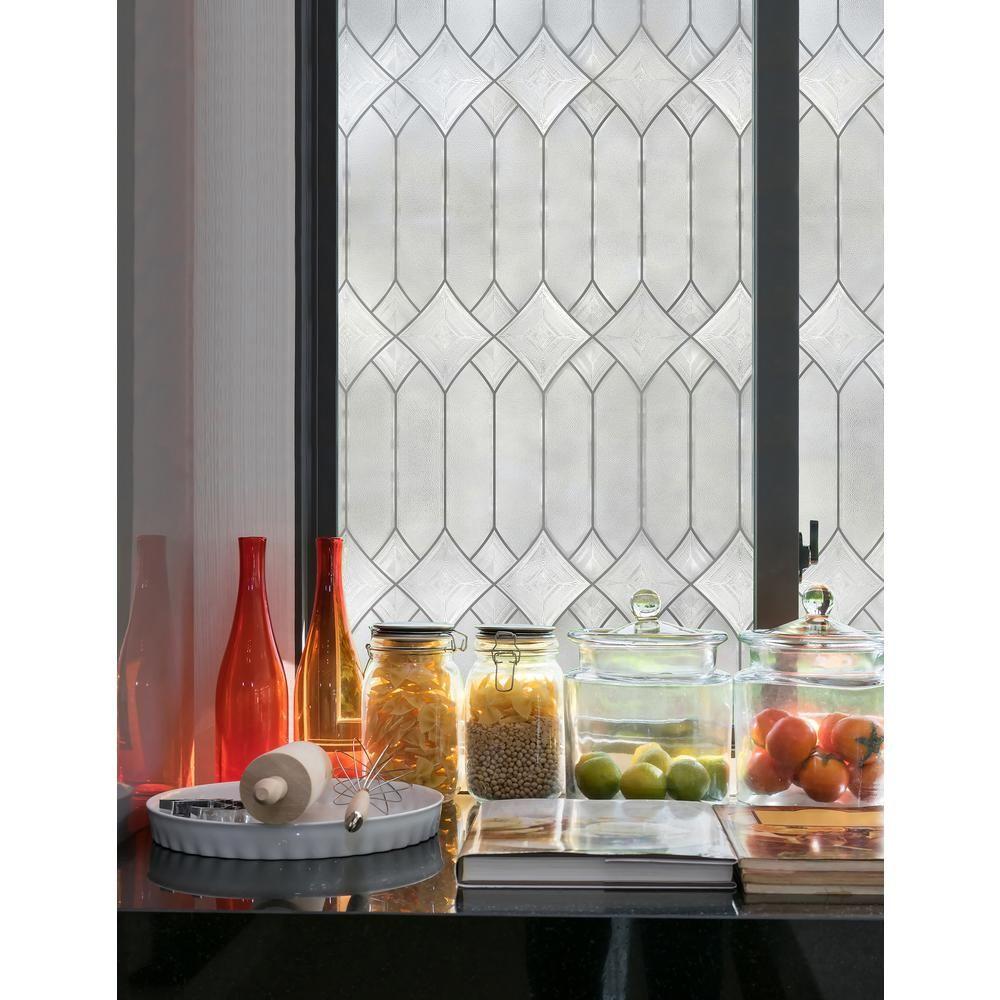 Artscape Regent 24 In X 36 In Window Film 02 3275 Leaded Glass