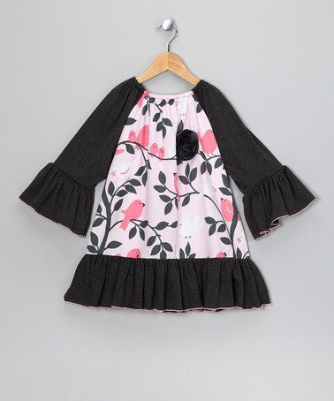 Take a look at this Brown Birdie in Twigs Dress - Toddler & Girls by Million Polkadots on #zulily today!