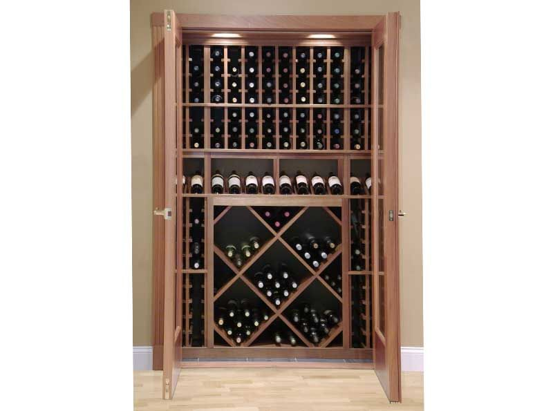 Reach-in Wine closet using Vigilant wine racking components and wine cellar door installed in Dover NH  sc 1 st  Pinterest & Reach-in Wine closet using Vigilant wine racking components and wine ...