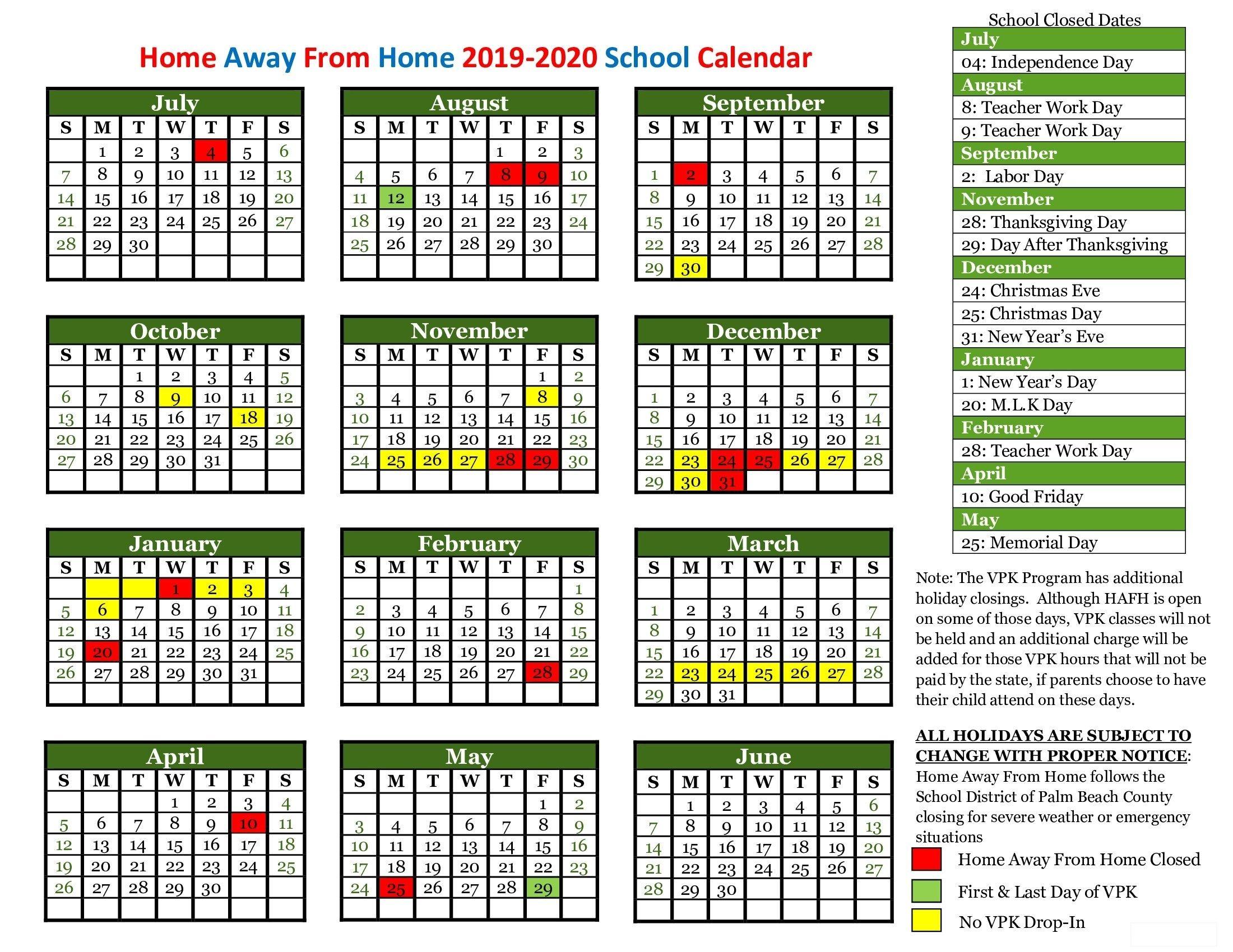 Dashing Calendar School West Palm Beach In 2020 School Calendar Calendar Homeschool Calendar