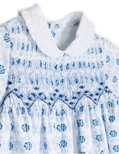 Vestido estampado azul | Ropa de bebe | Moda infantil | Gocco - Tienda oficial Gocco