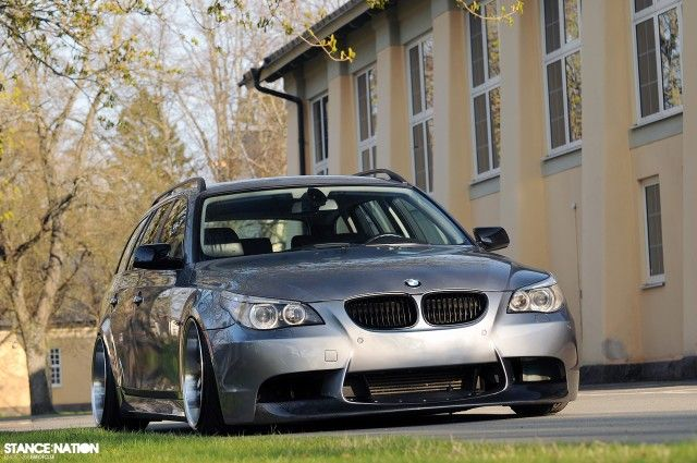 """""""Stunning grocery getter."""" Stanced & Fitted BMW 5 Series E61 (9)"""