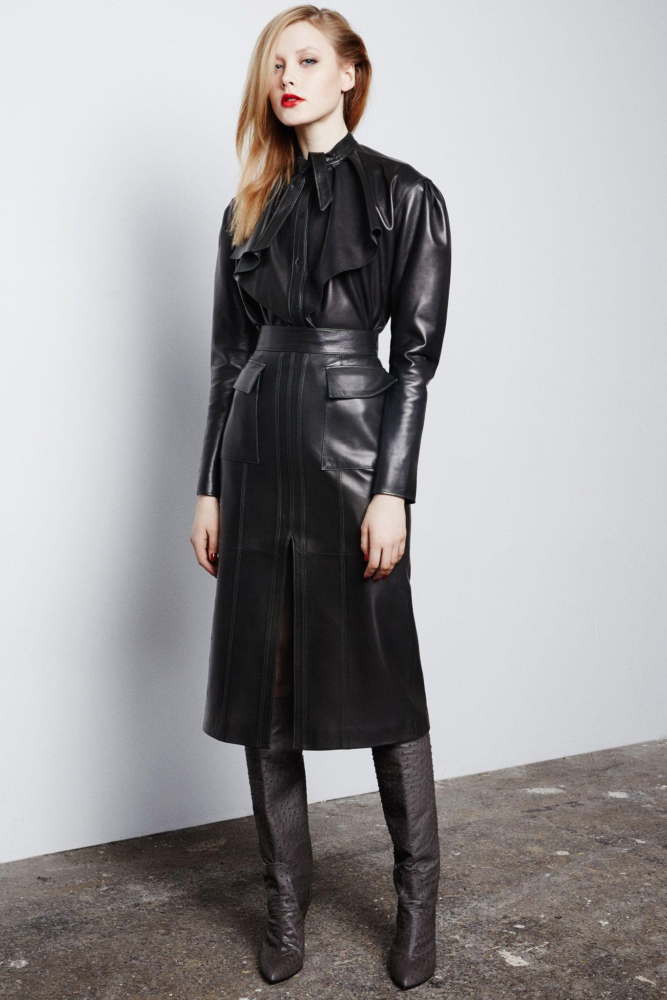leather skirt suit Gallery | Leather skirt ladies | Pinterest ...