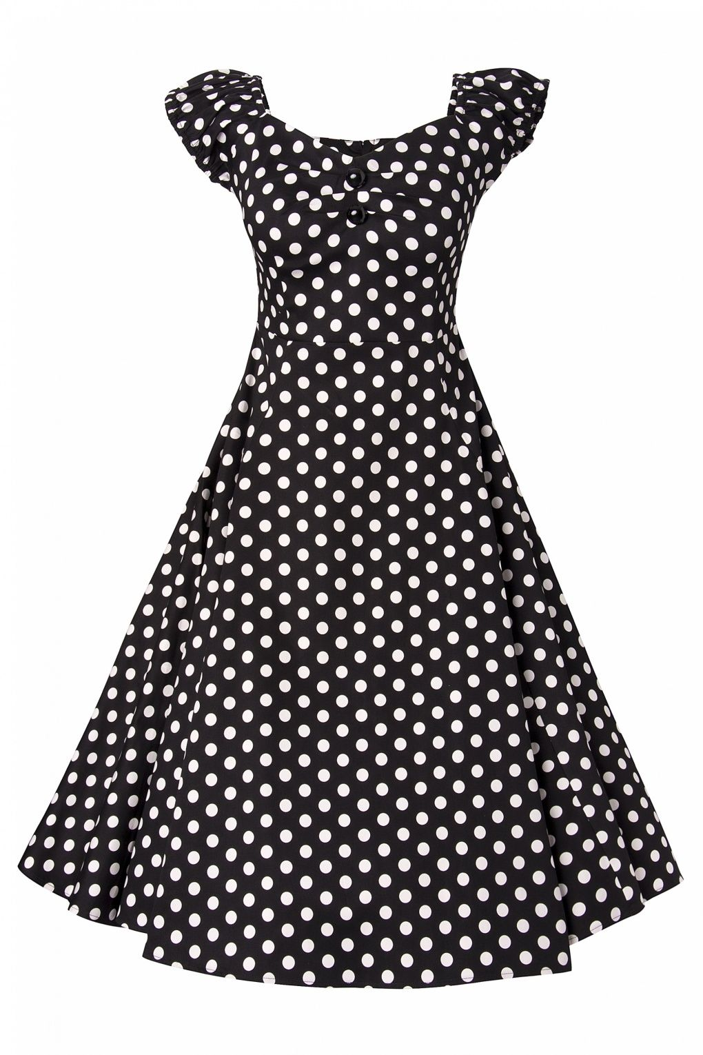 9de9e48b6c346d Collectif Clothing - Collectif Clothing - 50s Dolores Doll dress Black  White polka swing dress - a girl can dream!