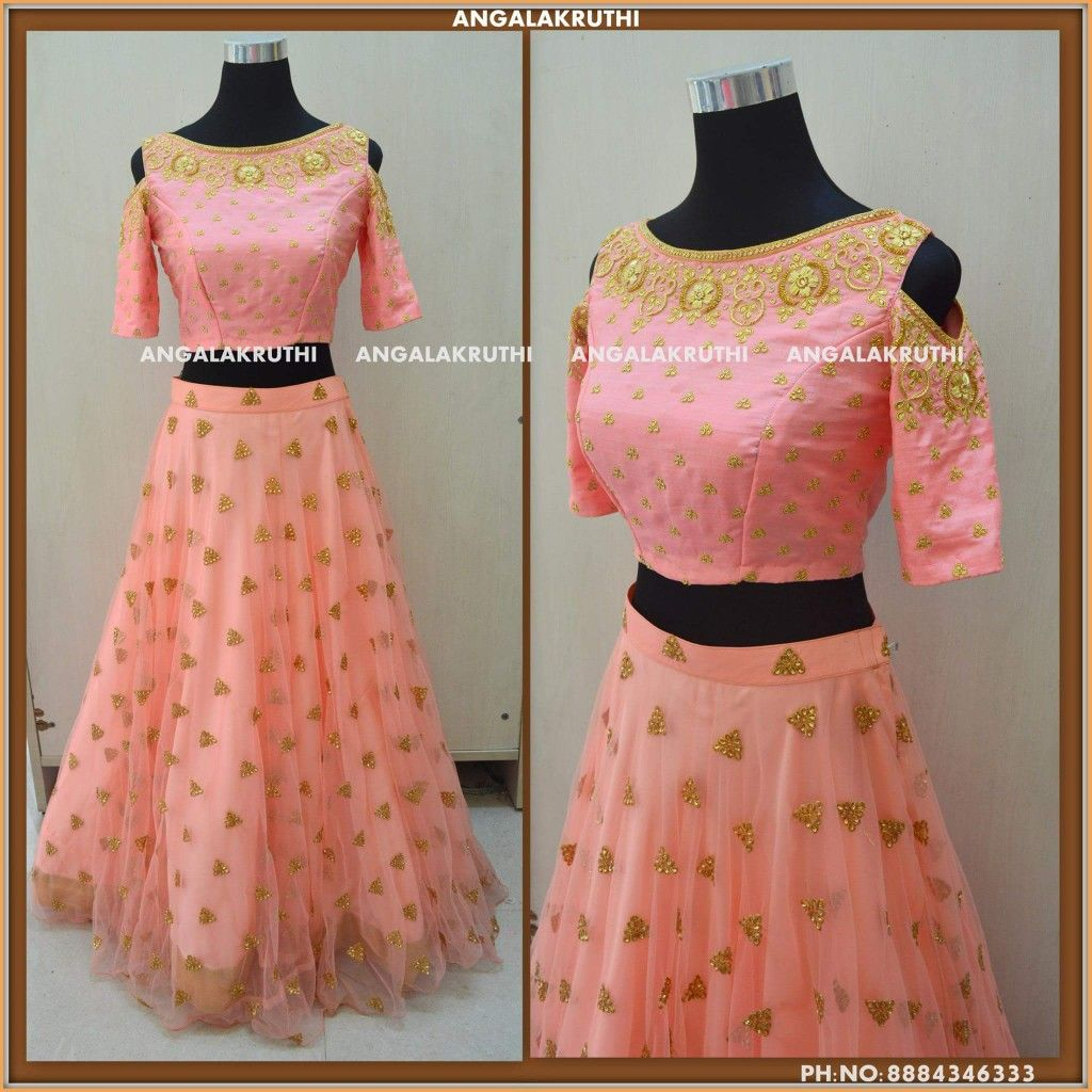 Designer Crop Top And Lehenga By Angalakruthi Boutique Bangalore Watsapp 8884346333 Angalakruthi Custom De Mom Daughter Outfits Kids Dresses Crop Top Designs