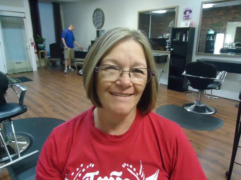 My mom's new hair! After: color, cut & style by Gina www.trilogyhairstudio.net