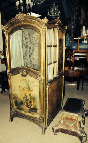 2 chinoiserie theme painted 18thc sedan front c for Chaise a porteur