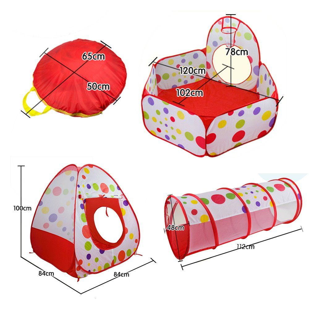 Amazon.com  FocuSun® Cute Polka Dot Pop up Kids Play Tent with Tunnel  sc 1 st  Pinterest & Amazon.com : FocuSun® Cute Polka Dot Pop up Kids Play Tent with ...