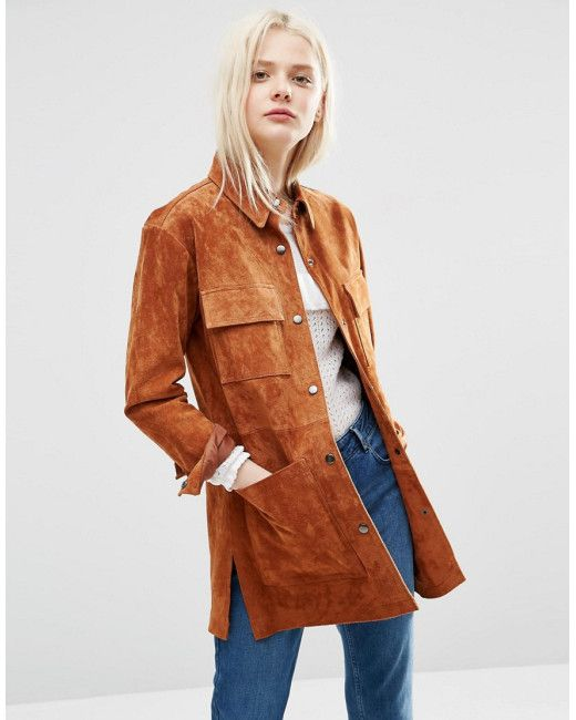 Image result for fashion women's brown suede jacket