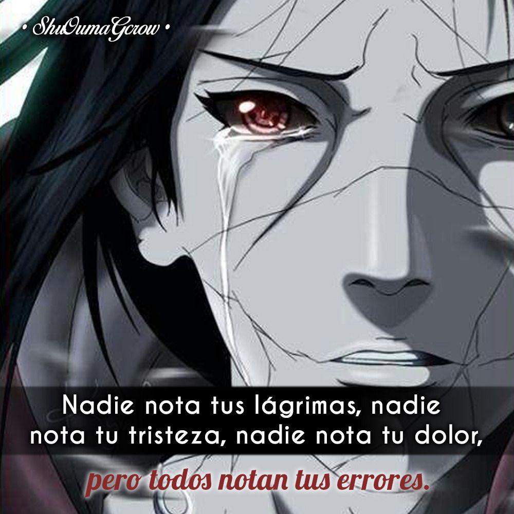 nadie nota tus lagrimas ShuOumaGcrow Anime Frases_anime
