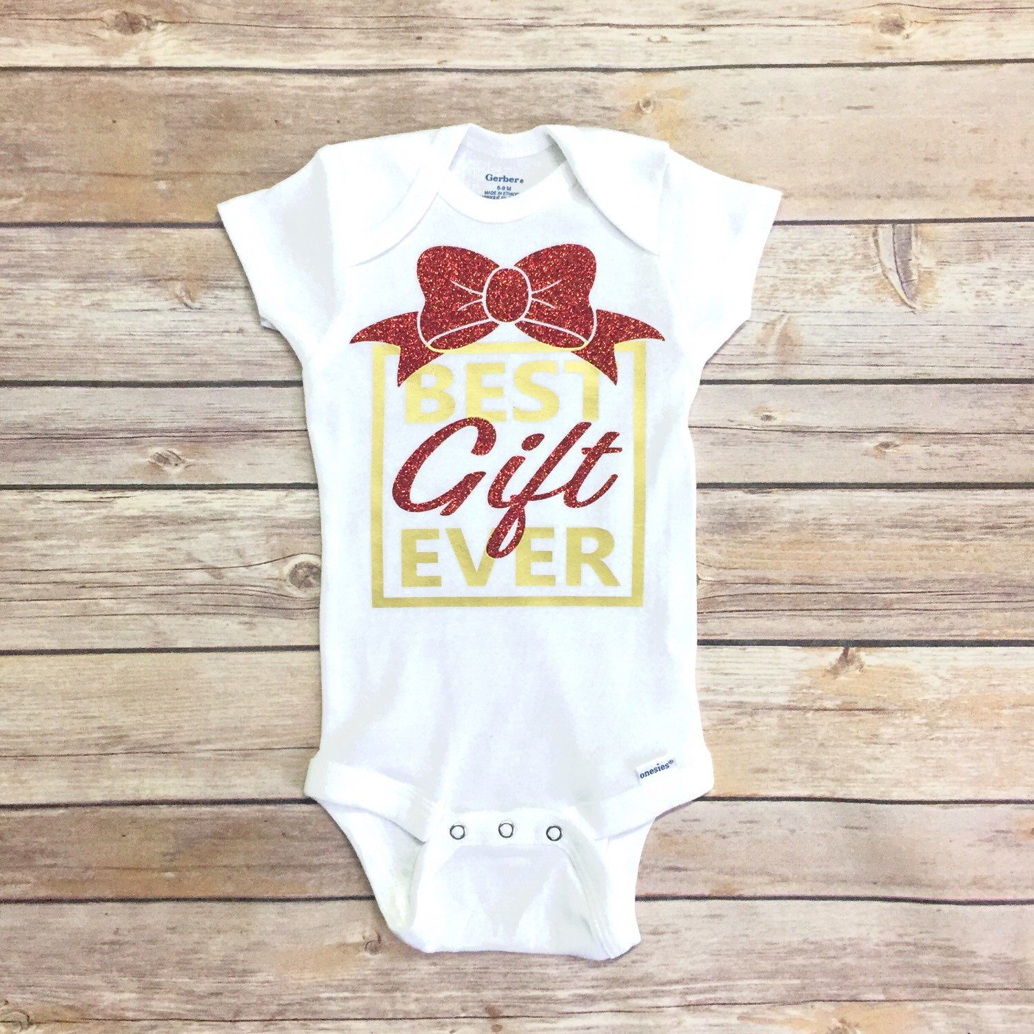 Best Gift Ever - $15.49+ Christmas onesie, Christmas outfit idea ...