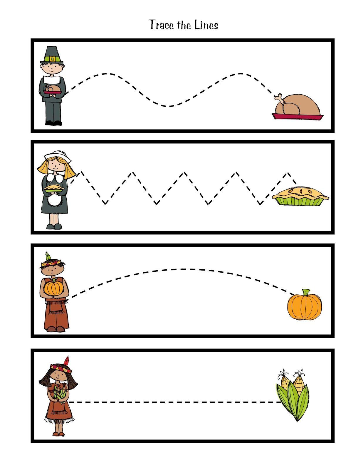 Preschool Printables Thanksgiving