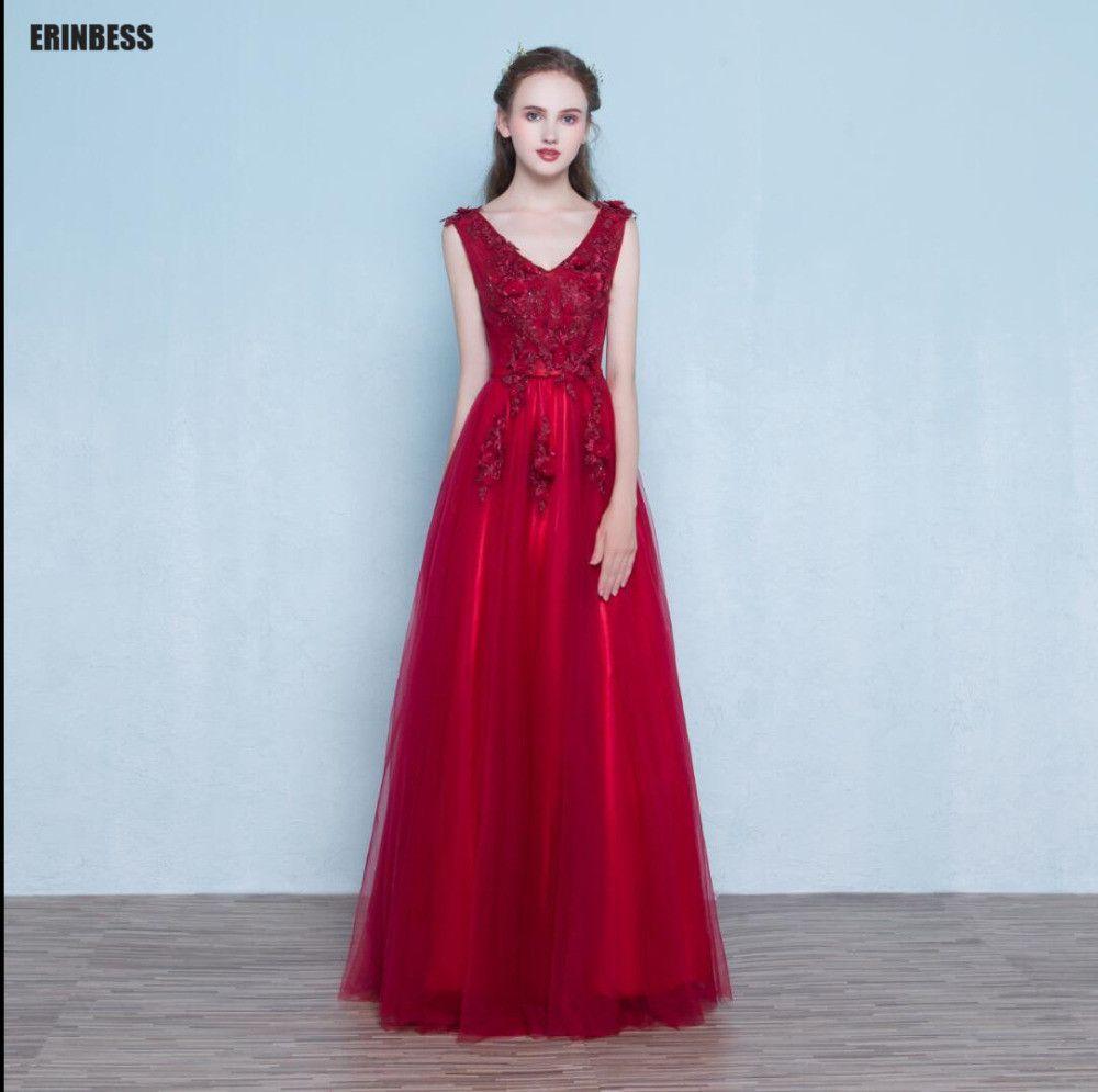 Click to buy ucuc vestido de festa real photos a line sexy v neck