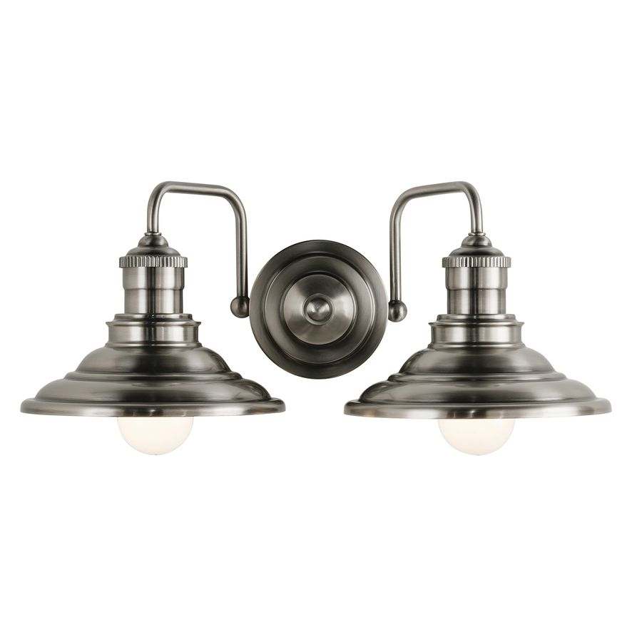 shop allen roth 2 light hainsbrook antique pewter 16124