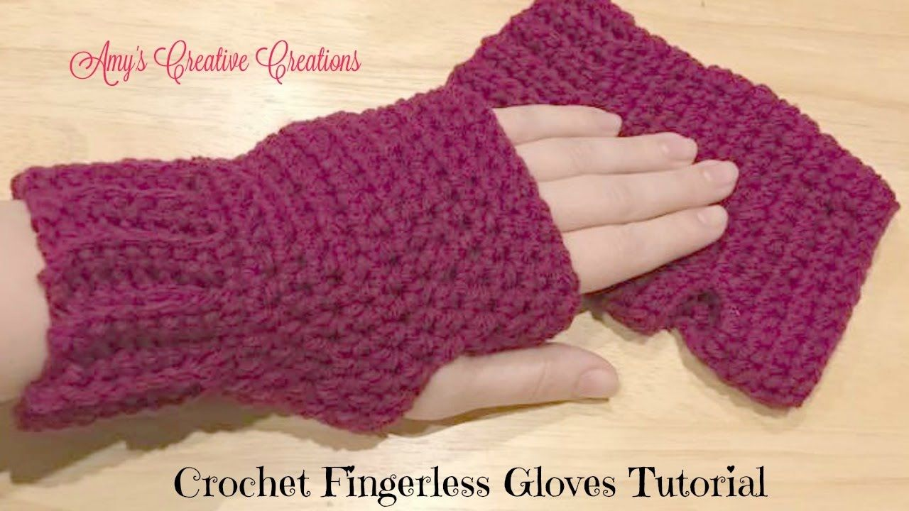 Crochet Fingerless Gloves Tutorial - Crochet Jewel - YouTube ...
