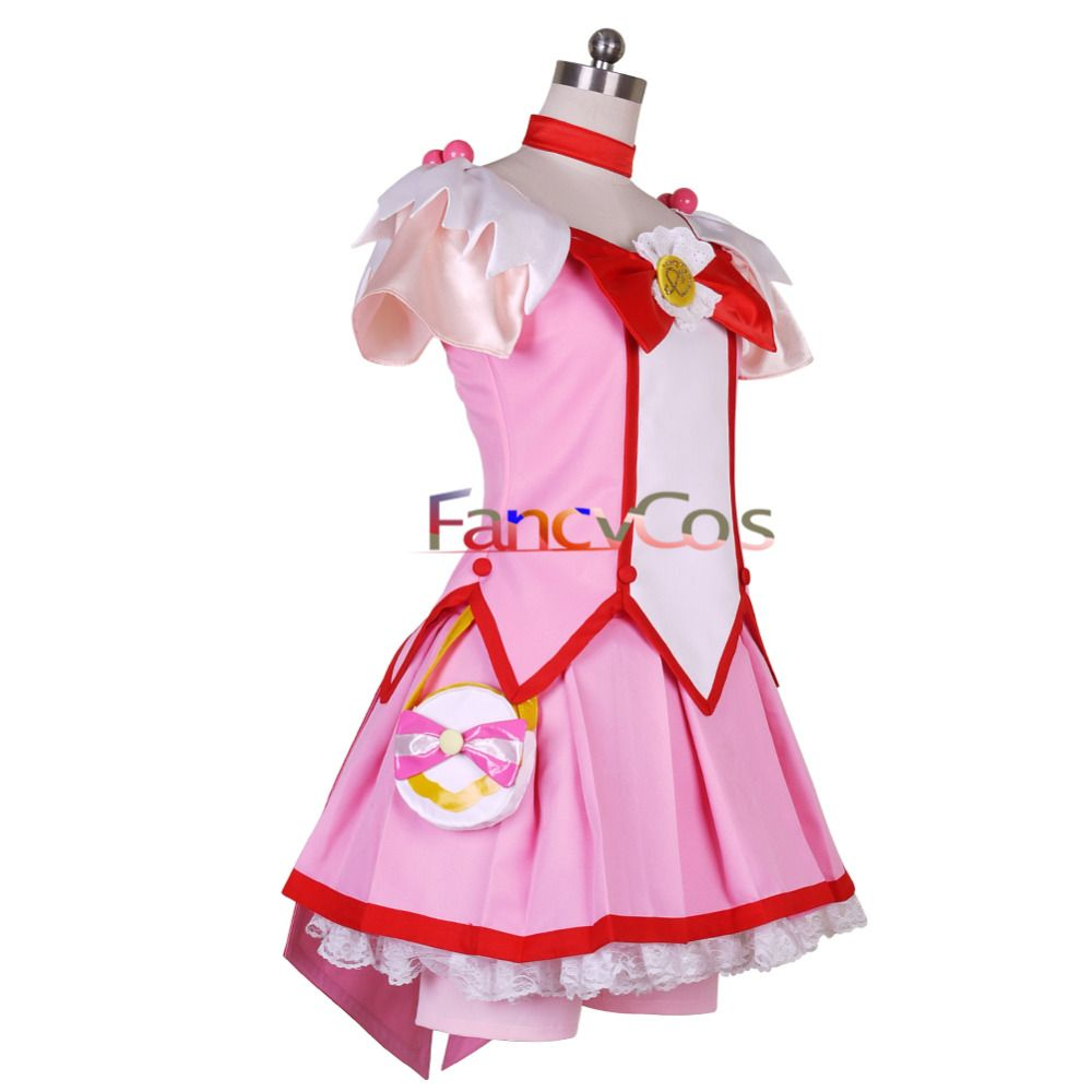 Glitter Force Glitter Spring Cure March Dress Cosplay Costume Smile PreCure