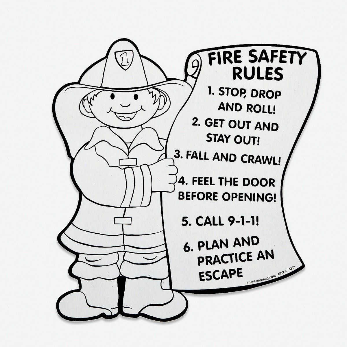 Unique Fire Safety Coloring Pages