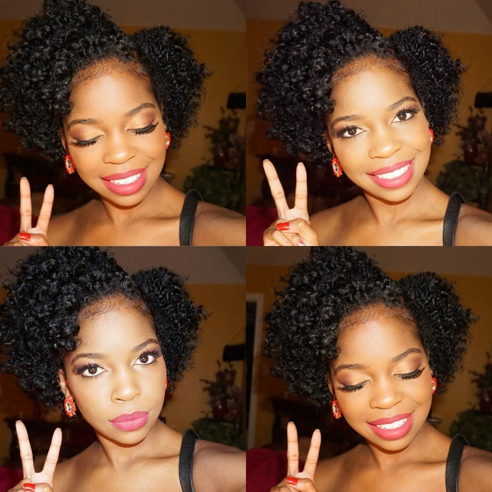 easy flat twist out tutorial on short natural hair | hair