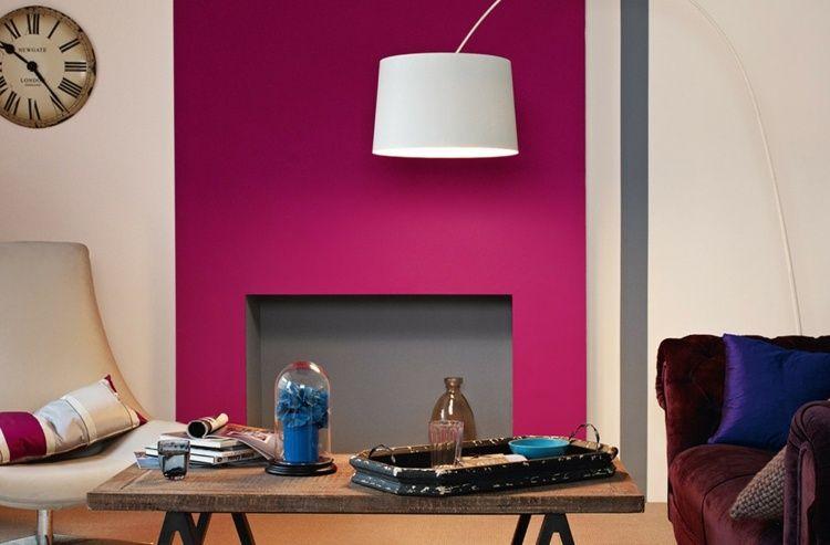 Couleur Rose Fuchsia Comment Adopter La Couleur Fushia En Deco Et Mode Feature Wall Pink Feature Wall Blue Feature Wall