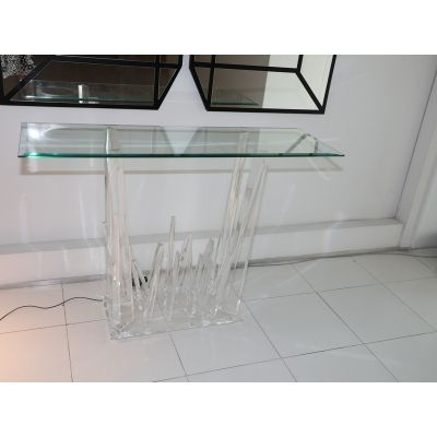 plexiglass furniture. Crypton Console Table With Icicle Base In Plexiglass Furniture And Decor Exchange | Your Source To Buy Sell Luxury Online I\u2026