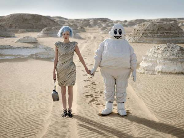 . Futuristic Desert Editorials - Eugenio Recuenco Captures Beauty on Desolate Sandy Plain (GALLERY)