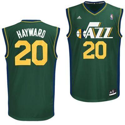 2aa113158 Utah Jazz Gordon Hayward  20 Alternate Replica Jersey (Green)
