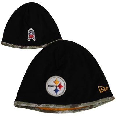 New Era Pittsburgh Steelers Salute to Service On-Field Knit Beanie -  Black Digital Camo b8b877f15