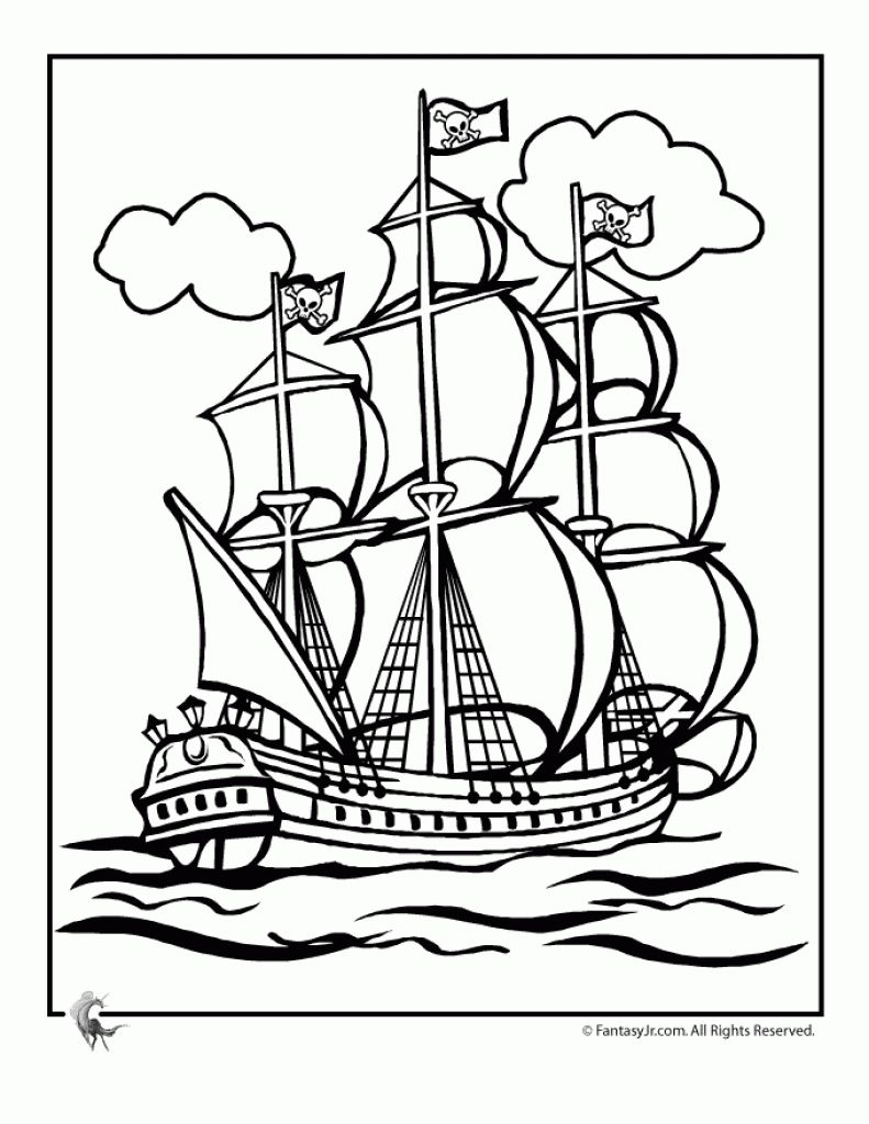 Pirate Ship Coloring Page Az Coloring Pages Throughout Pirate Ship Coloring Pages Gif 791 1024 Pirate Coloring Pages Coloring Pages Pirate Ship Drawing [ 1024 x 791 Pixel ]