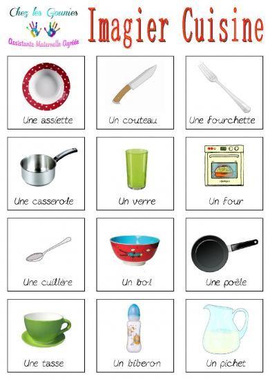 Extrêmement Imagiers cuisine | Éducation | Pinterest | Imagier, Vocabulaire et  EC53