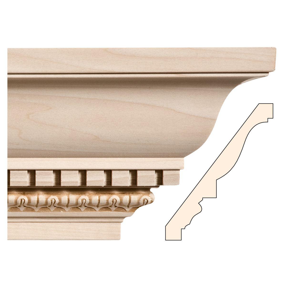 7 X 13 16 Dentil With Lamb S Tongue White River Cornice Design Pillar Design Interior Exterior Doors