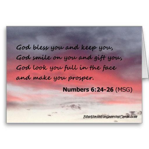 Scripture Birthday Card - Numbers 6:24-26