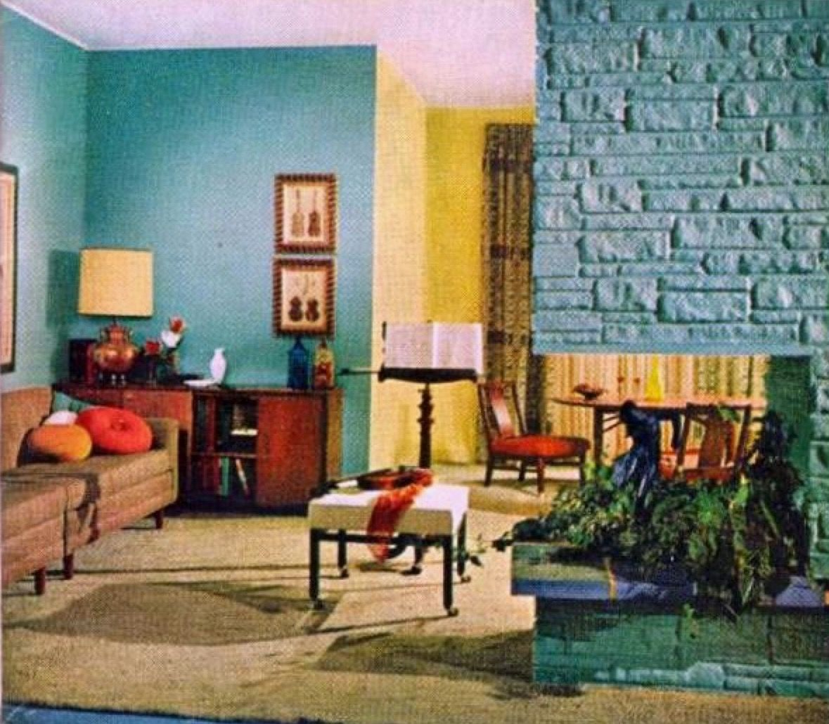 1950s interior design. Room · 1950s InteriorVintage Interior DesignVintage Design