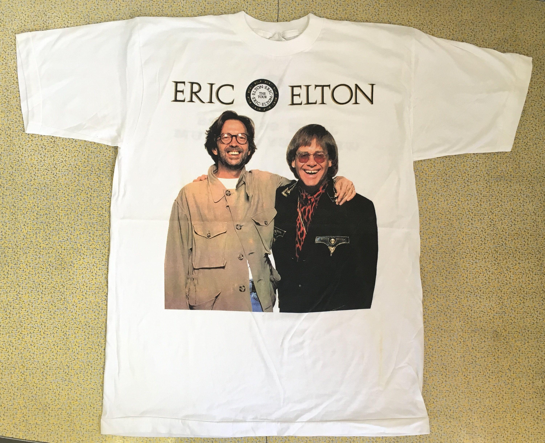 6b9840ae81f7d ERIC CLAPTON ELTON John Shirt 1992 Tour 90s Tshirt Vintage Wembley ...