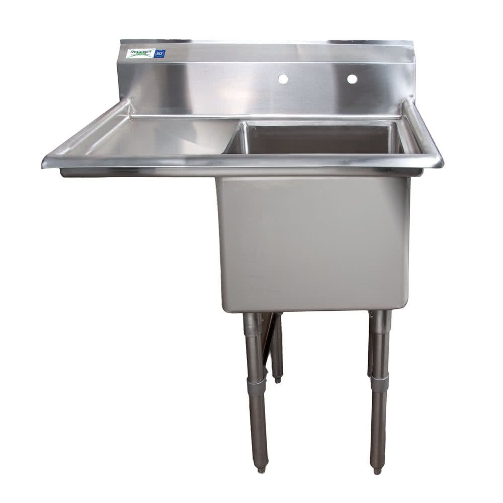 Left Drainboard Regency 38 1 2 16 Gauge Stainless Steel One