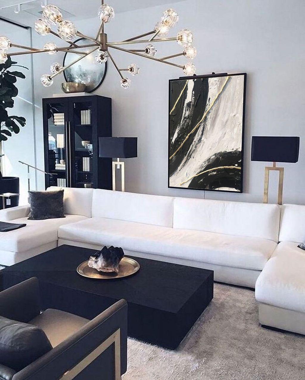 32 Awesome Modern Living Room Decor Ideas Black Living Room Black And White Living Room Farm House Living Room