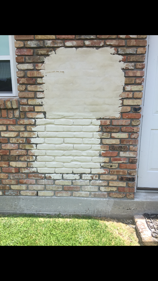 Deep Mortar Joint Brick Wash Slurry Sack Lime White Brick Exterior House Painted Brick Exteriors House Exterior