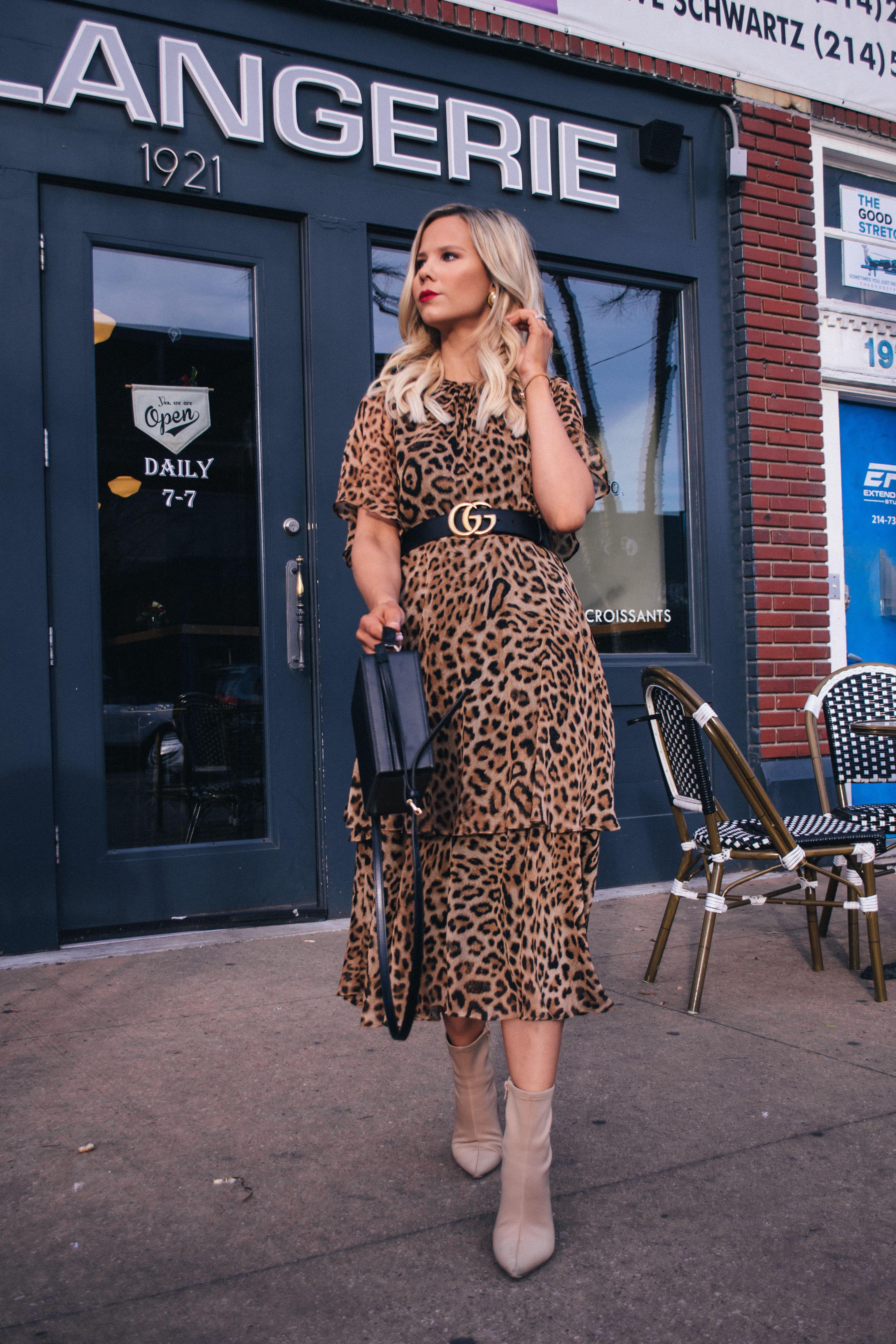 1417419349c0 Leopard dress with Gucci Belt, dallas blogger, leopard fashion, leopard  style #leopard #fashion #blogger
