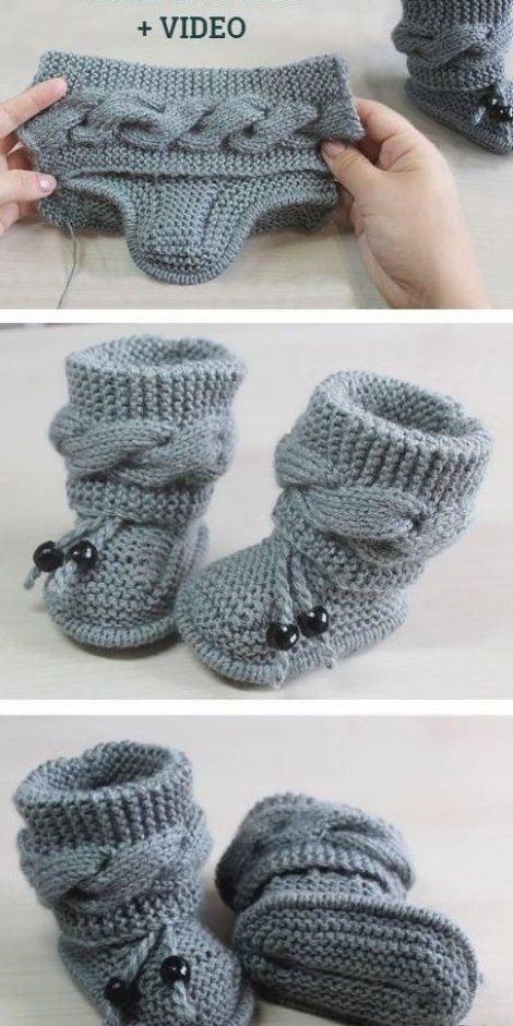 Photo of Strikk kabel Baby Booties Gratis Strikkeoppskrift Video – Strikkeoppskrift # strikk …