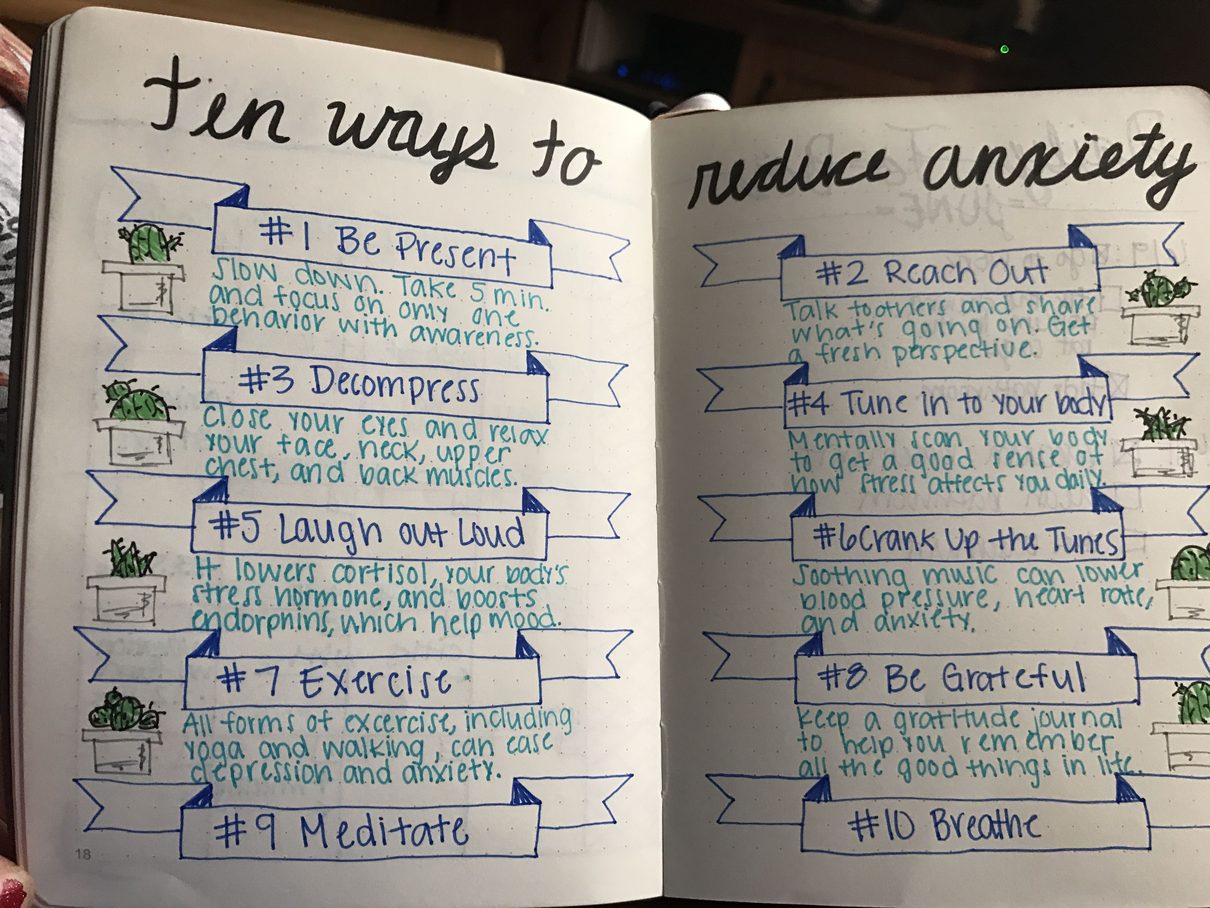 BULLET JOURNAL: ten ways to reduce anxiety | Bullet ...