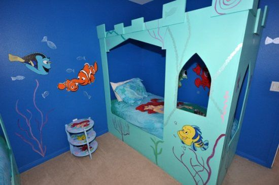 Little Mermaid And Finding Nemo Themed Bedroom In A