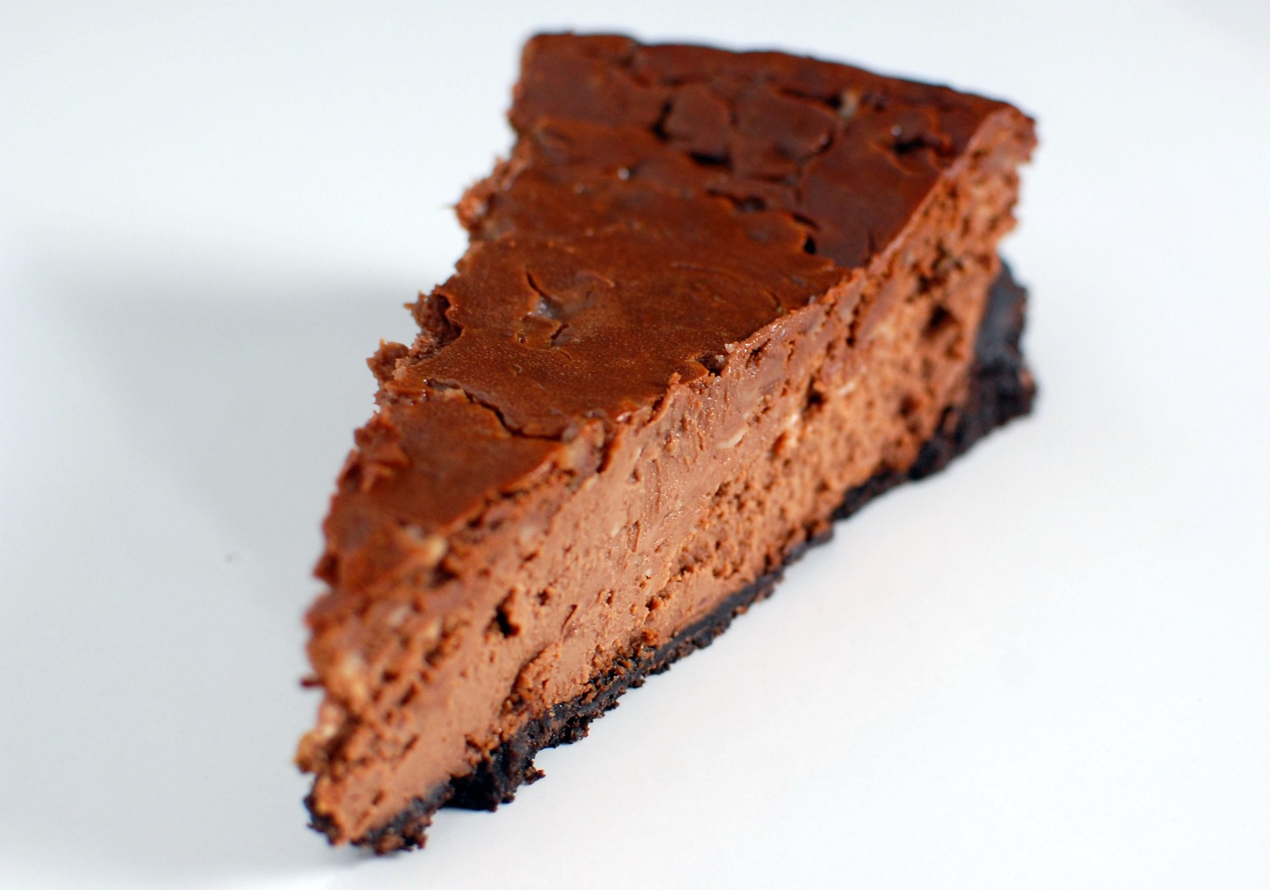double chocolate toffee cheesecake