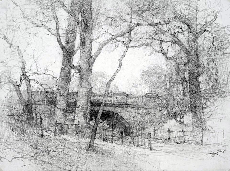 Pencil Sketch On Arches Hp 300 Gsm 27 X 27 Cm Chien Chung Wei Landscape Drawings Landscape Pencil Drawings Pencil Sketches Landscape