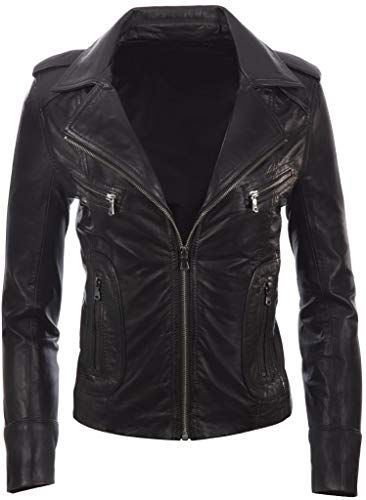 Enjoy exclusive for MDK Womens Real Leather Biker Ladies Women's Motorbike Short Fitted Jacket  online – Fortrendytoprated