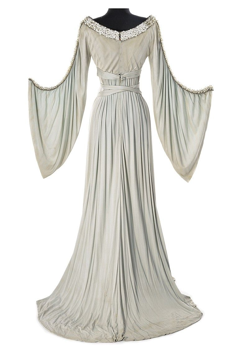 Grey crepe period dress from an unidentified MGM p - by Profiles in History